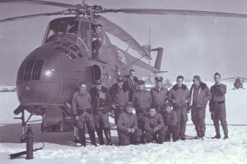 The second squadron's pilots at Olomouc Airport