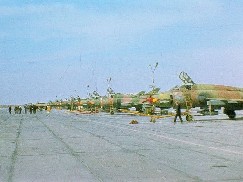 Soviet Su-17M3 Fitter-H at Mary-2 airport