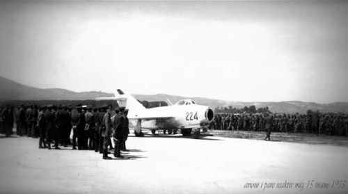 Albanian MiG-15bis in 1955
