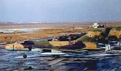 217th Fighter Bomber Air Regiment's Su-17 Fitter-C at Mary, Photo: Mir Aviacia no.22