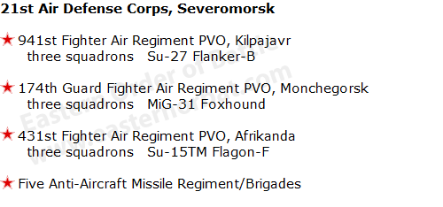 21st Air Defense Corps, Severomorsk