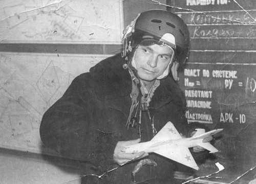 Soviet 27th Guard Fighter Air Regiment's pilot in Usharal. Photo: Zulkaraev Rafat collection