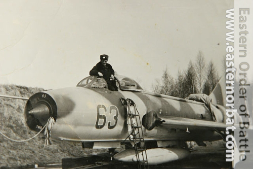 Soviet 305th Fighter-Bomber Air Regiment Su-7BM Fitter-A at Postavy