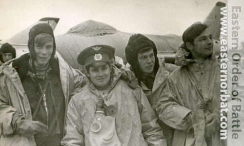 Young Soviet crews behind of his Su-7 Fitter-A