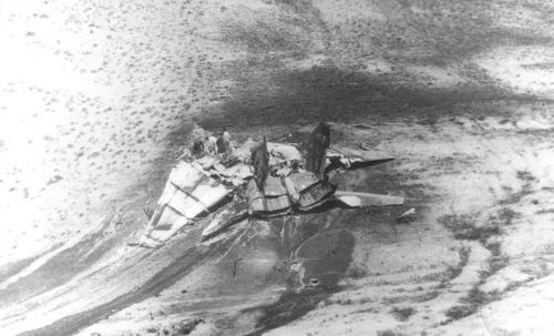 Soviet MiG-25PU 'Foxbat-C' accident at the Nasosnaya airport