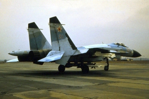Soviet 831st Fighter Air Regiment's Su-27 Fencer-B