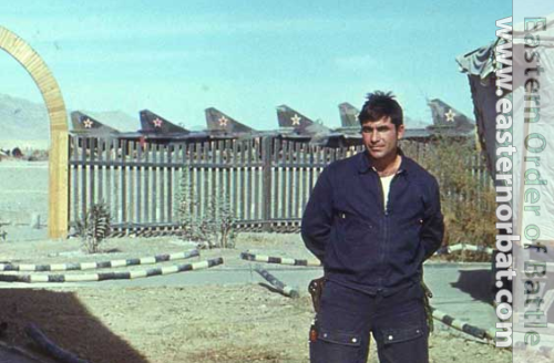 Soviet 979th Fighter Air Regiment's pilot in front of his MiG-23ML Flogger-G at Afghanistan