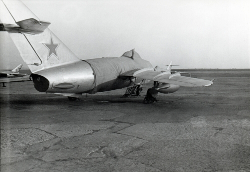 Soviet MiG-17 Fresco-A at Sennoy - Bagay-Baranovka airbase in the seventies