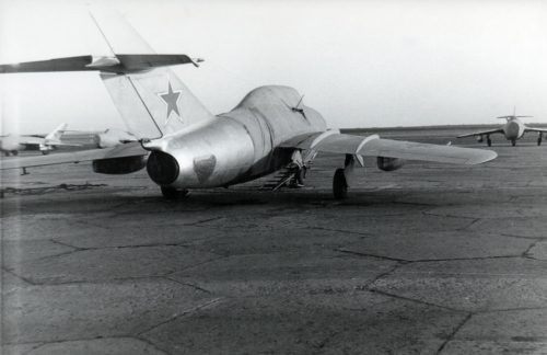 Soviet MiG-15UTI Midget at Sennoy - Bagay-Baranovka airbase in the seventies
