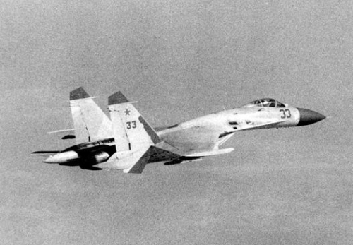 Early Su-27 Flanker-B at Kilpyavr