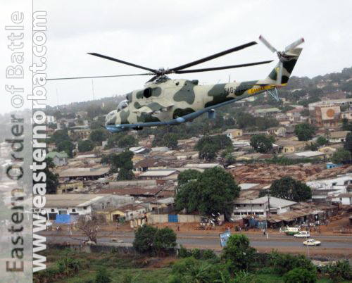 Guinean Mi-24 at Conakry air port