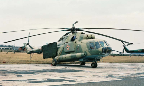Hungarian Mi-17PP Hip-H EW electronic jamming helicopter in Szenrkirályszabadja. Photo: Nagy András collection