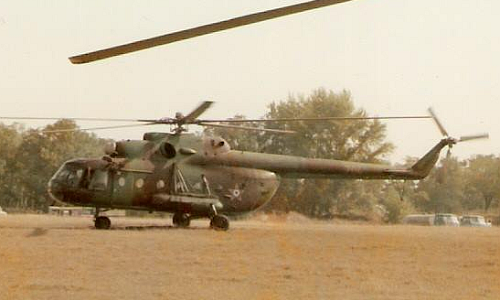 Hungarian Mi-17 Hip-H cargo helicopter in Warsaw Pact