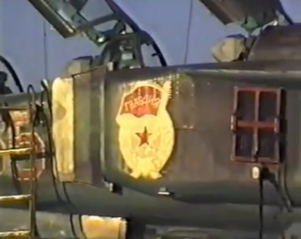 MiG-23 Flogger on the Soviet Sary Shagan missile test range