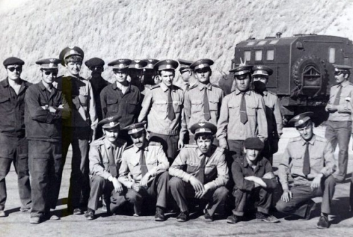 Soviet 129th Fighter bomber air regiment's crews in Taldy Kurgan in 1979