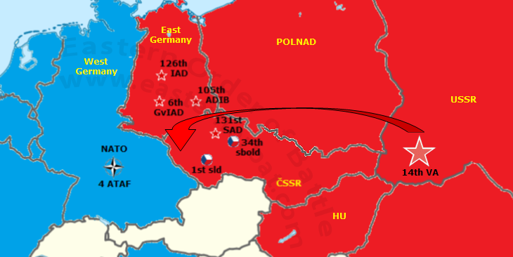 In the event of war, the Soviet Carpathian Military District's Air Force would have relocated to Czechoslovakia. NATO 4 ATAF