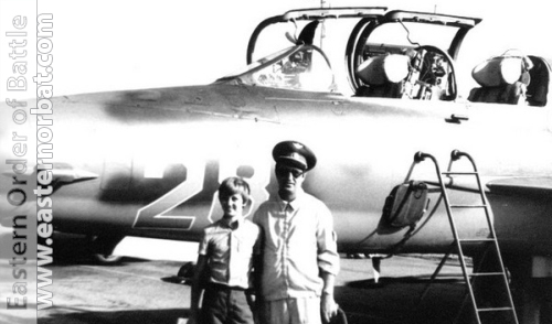 Soviet instructor pilot in front of his MiG-21UM Mongol-B